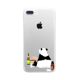 晩酌パンダ🐼 Clear smartphone cases