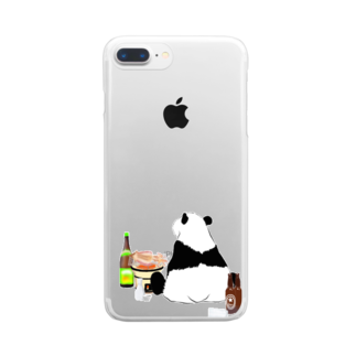KaNaN〜パンダの晩酌パンダ🐼 Clear smartphone cases