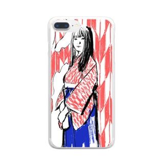 志月かなで Clear smartphone cases