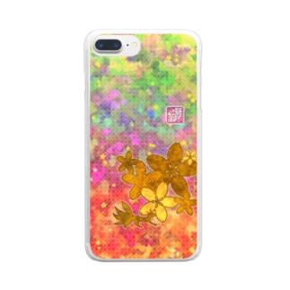 「百歳」Series * Sakura-ko kiiro Clear smartphone cases
