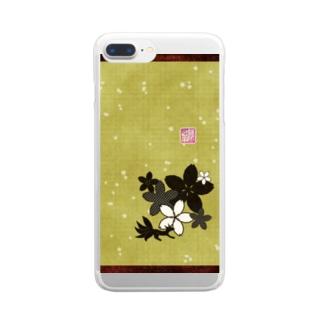 「百歳」Series * Sakura-ko tatami Clear smartphone cases