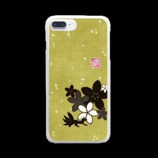 ❀花狐庵❀-HanaKoAn-の「百歳」Series * Sakura-ko tatami Clear smartphone cases