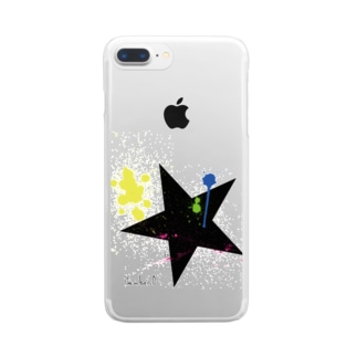 BIG STAR ペイント Clear smartphone cases