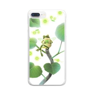 ちっちゃいハート Clear smartphone cases