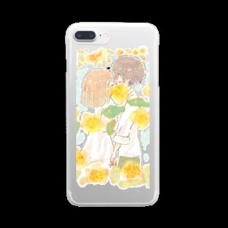 *momochy shop*のモッコウバラ Clear smartphone cases