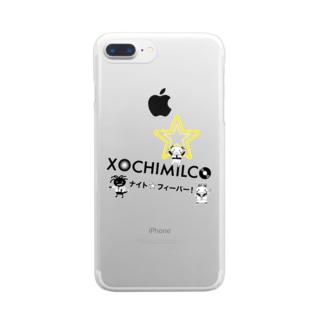XochimilKids サタデーナイトフィーバー Clear smartphone cases