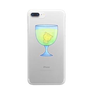 ましまろカクテル-グリーンミモザきつねび- Clear smartphone cases