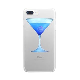 ましまろカクテル-スカイダイビングからすてんぐ- Clear smartphone cases