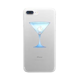 ましまろカクテル-カジノばけねこ- Clear smartphone cases
