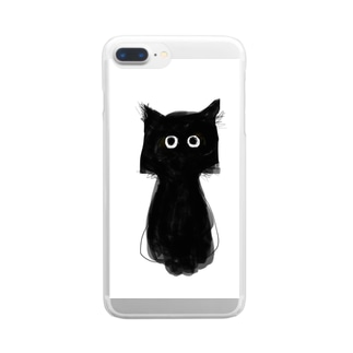 黒猫のココ No.1 Clear smartphone cases