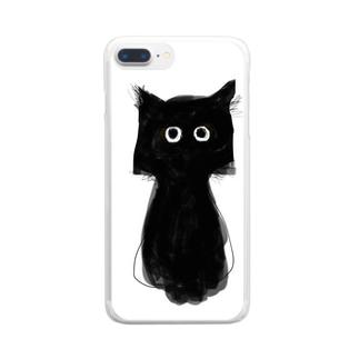 黒猫のココ No.1 Clear smartphone cases
