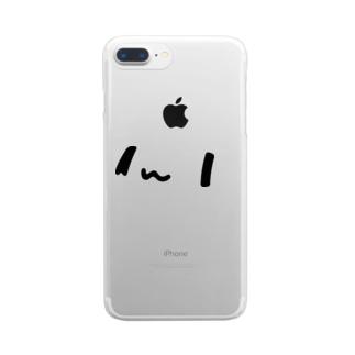 どどねこ-どアップ- Clear smartphone cases