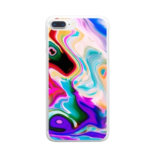 Marbleize(マーブル模様) Clear smartphone cases