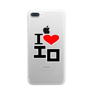 愛 ハート エロ Clear smartphone cases