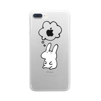 りんごたべたいうさぎ iPhone6/6s 6s-plus/6-plus 8-plus/7-plus用 クリアスマートフォンケース