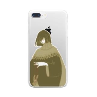 ひとりじゃんけん Clear smartphone cases