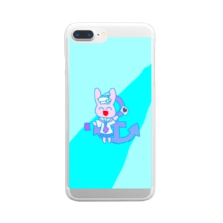 さくらもちスマホケース Clear smartphone cases