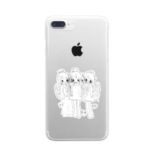 いじめ Clear smartphone cases