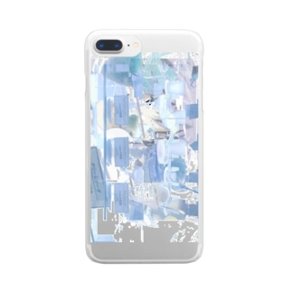mosaic nemui Clear smartphone cases