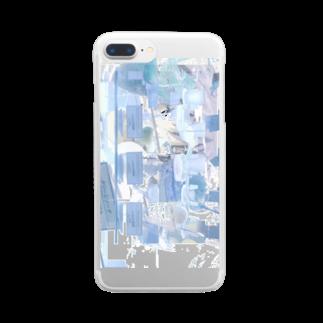 「ごめん々ね 」と言っのmosaic nemui Clear smartphone cases