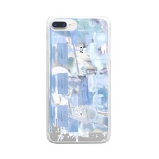 エアコンの風 Clear smartphone cases