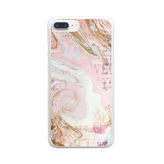 マーブルプラス☆ピンク Clear smartphone cases