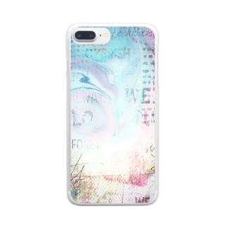 マーブルプラス☆ブルー Clear smartphone cases