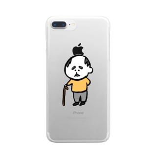 おじいちゃん Clear smartphone cases