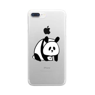 ぱんだとといす Clear smartphone cases