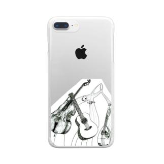 マンドリンオーケストラ Clear smartphone cases