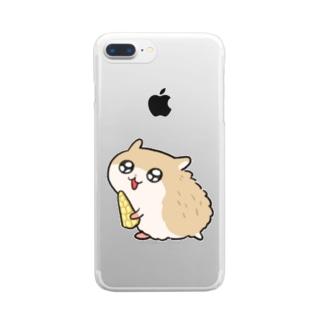 コビハムちゃんとヤングコーン Clear smartphone cases