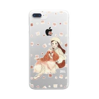 わんわんガール Clear smartphone cases