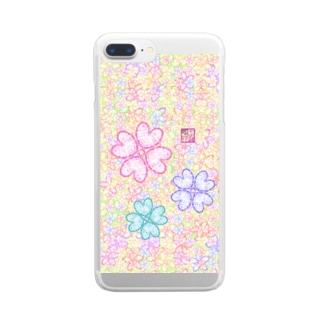 「花籠」Series * sakura-jewels green Clear smartphone cases