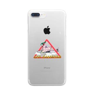 スカイ撫子(透明背景用) Clear smartphone cases