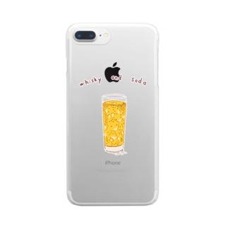 ハイボール Clear smartphone cases
