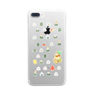 おにぎりがすき Clear smartphone cases