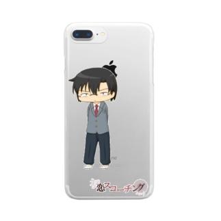 SDクソメガネ制服(初恋スコーチング) Clear smartphone cases