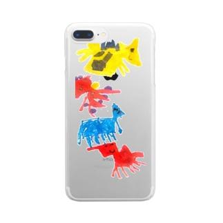 うちゅうじん Clear smartphone cases