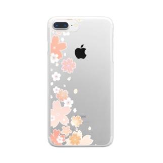 舞桜 クリアスマートフォンケース