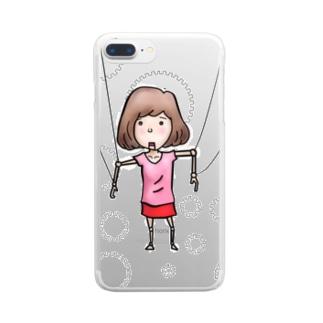 マリコネット Clear smartphone cases