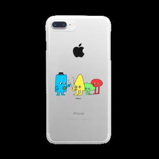 とくながあきこのカタチ3 Clear smartphone cases