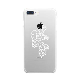スケルトン 犬 Clear smartphone cases