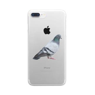 常盤の鳩先輩 Clear smartphone cases