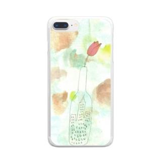 花が咲いた Clear smartphone cases