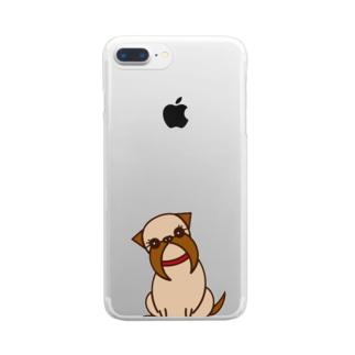 ブリュッセルグリフォン Clear smartphone cases