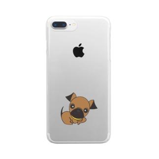 プチブラバンソン Clear smartphone cases