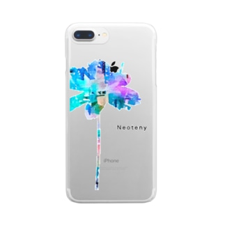 Neoteny Cycle iPhoneケース クロ Clear smartphone cases
