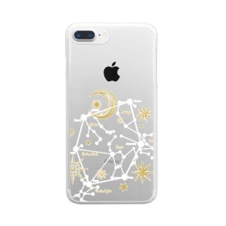 星座|冬空のダイアモンド Clear smartphone cases