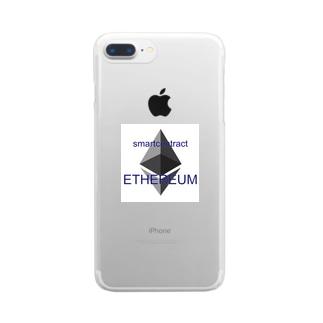 イーサリアム Clear smartphone cases