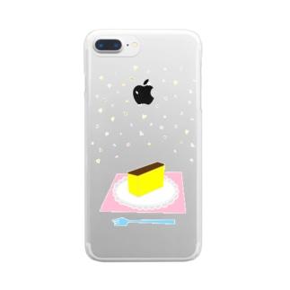 ごちそうカステラ Clear smartphone cases